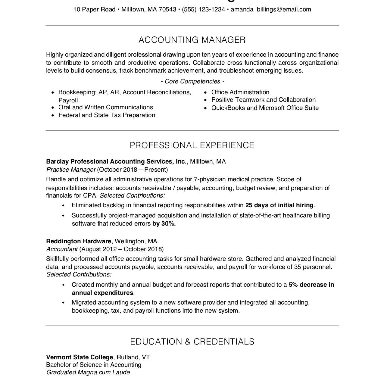 free professional resume examples and writing tips good templates 2063596res1 manual Resume Good Resume Templates Free