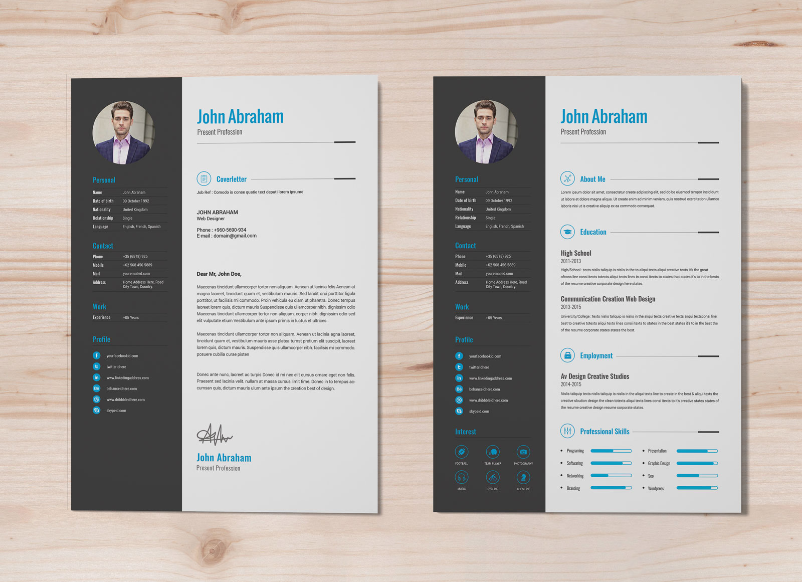 free professional resume template cover design in word good best letter for walgreens Resume Professional Resume Template Free