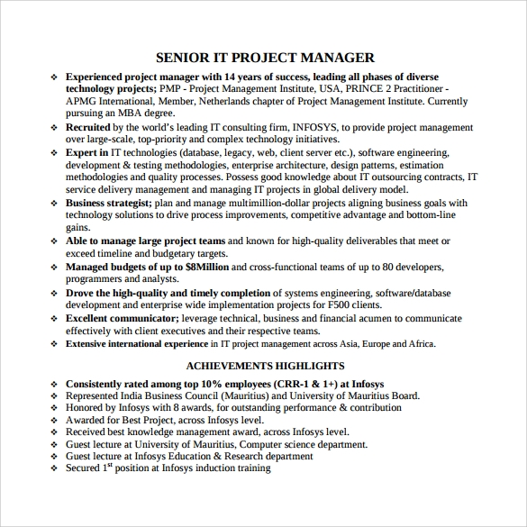 free project manager resume templates in samples pdf best template for district hacer Resume Best Resume Template For Project Manager