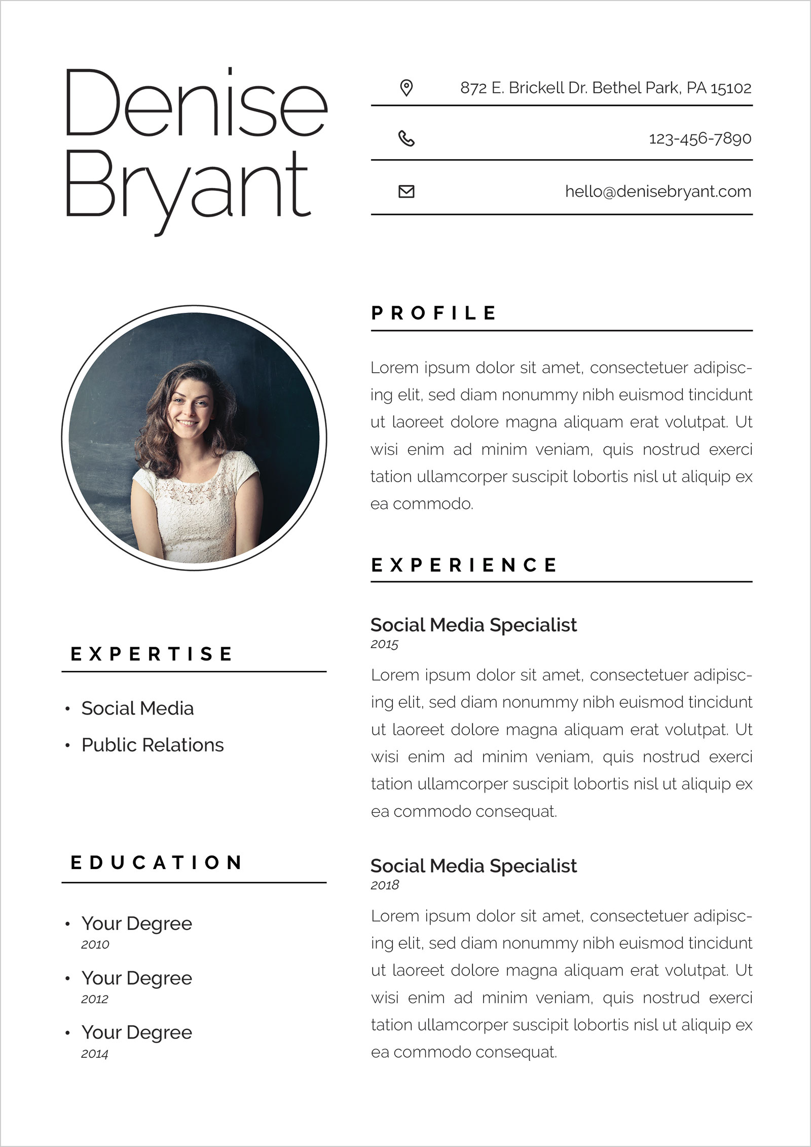free resume cv format for social media specialists public relation officers good template Resume Social Media Resume Template