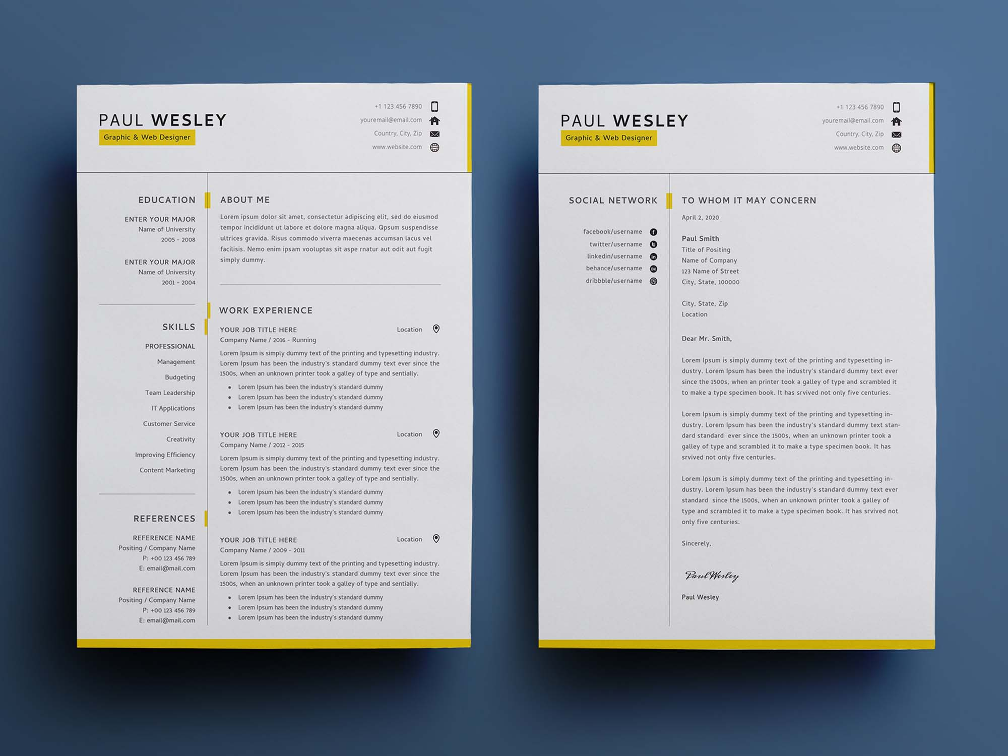 free resume template two vtu business accounting examples production line leader sample Resume Two Page Resume Template