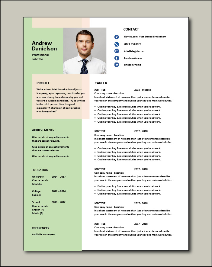 free resume templates examples samples cv format builder job application skills one Resume One Page Resume Sample