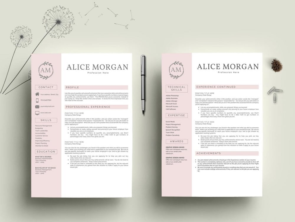 free resume templates for microsoft word best of pretty professional template mb Resume Pretty Resume Templates