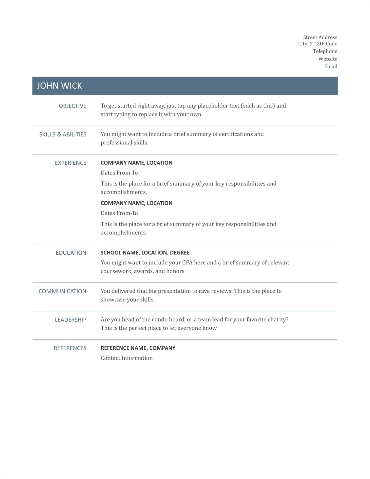 free resume templates for to now quick and easy new automotive warranty manager Resume Quick And Easy Resume
