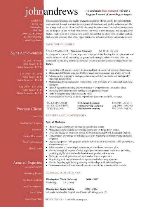 free resume templates marketing project manager template gas station account example Resume Marketing Resume Template