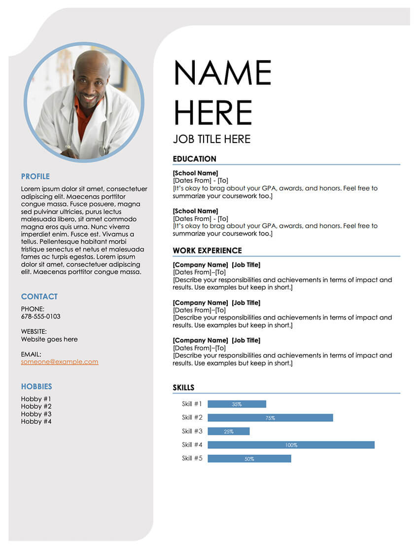 free resume templates open office libreoffice ms word blue grey eclipse general Resume Mobile Resume Templates Free