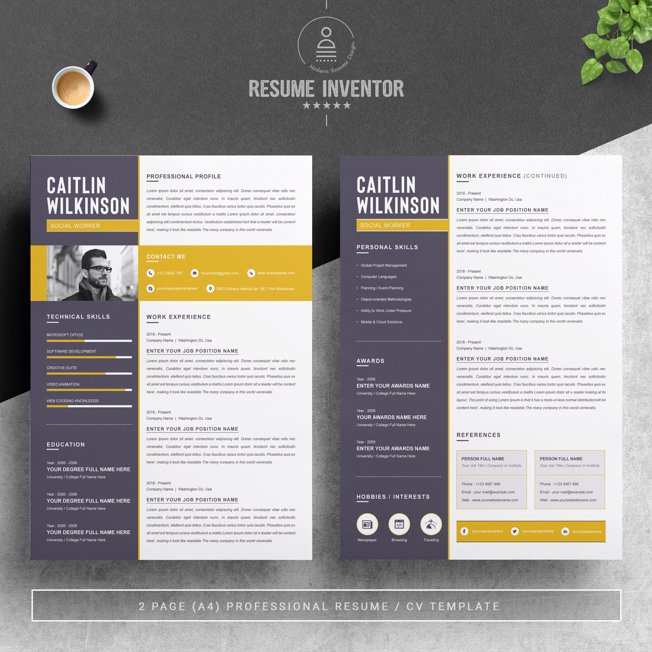 free resume templates with multiple file formats resumeinventor two template design if Resume Two Page Resume Template