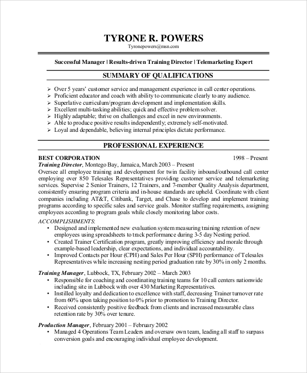 free sample customer service representative resume templates in pdf ms word for position Resume Resume For Customer Service Position