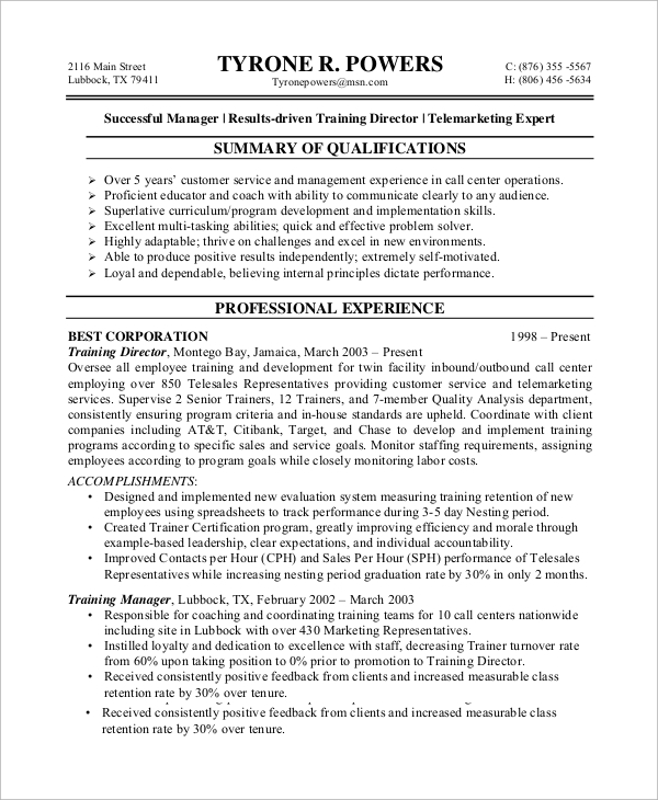 free sample customer service resume templates in ms word pdf professional call center Resume Professional Customer Service Resume