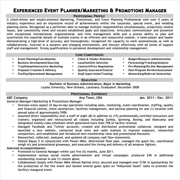 free sample event planner resume templates in pdf ms word examples printable headline for Resume Event Planner Resume Examples