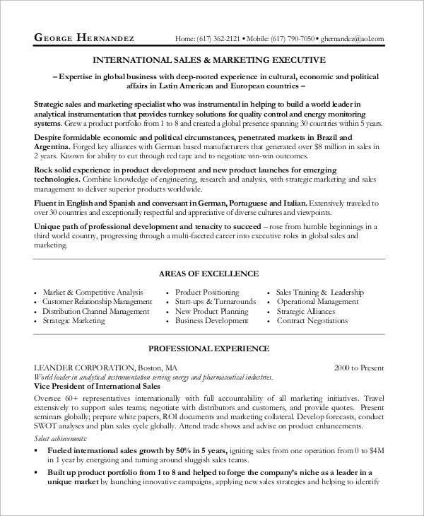 free sample manager resume templates in ms word pdf professional template marketing and Resume Sales Professional Resume Template
