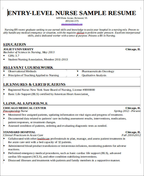 free sample new nurse resume templates in ms word pdf entry level practitioner template Resume Entry Level Nurse Practitioner Resume Template