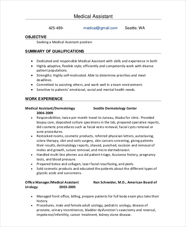 free sample office assistant resume templates in ms word pdf medical administrative iu Resume Medical Administrative Assistant Resume