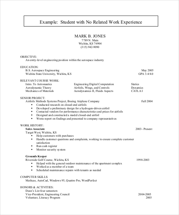 free sample resume for college student in ms word pdf students with no experience samples Resume Free Resume For College Students