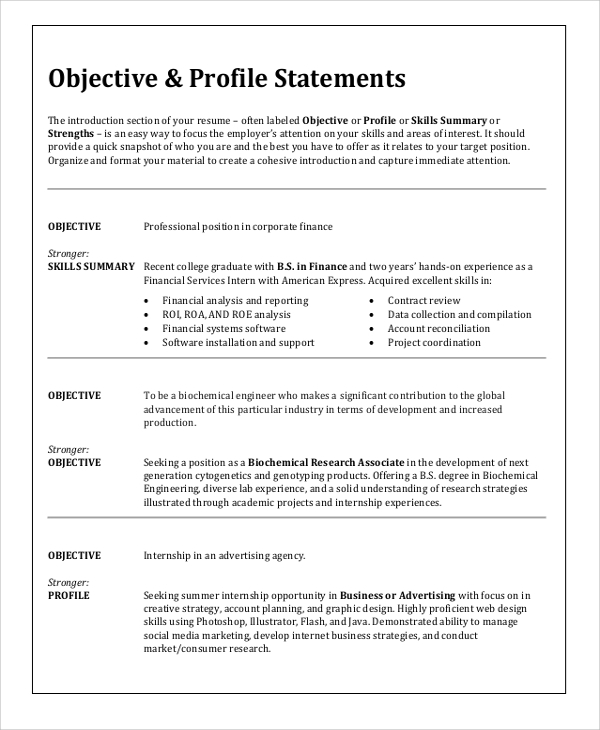 free sample resume objective templates in ms word pdf targeted examples for any job Resume Resume For Any Job Position