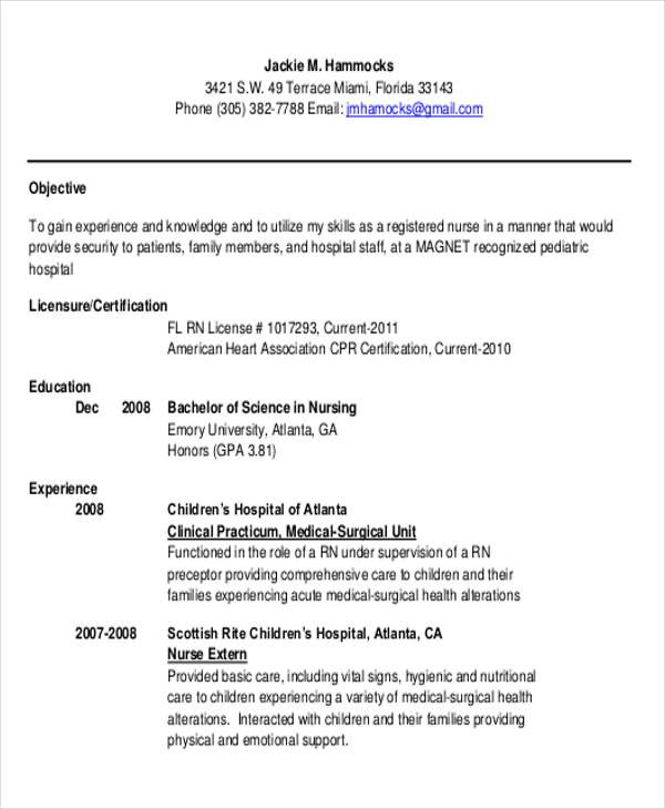 free sample rn resume templates in ms word pdf new grad examples graduate entry level Resume New Grad Rn Resume Examples