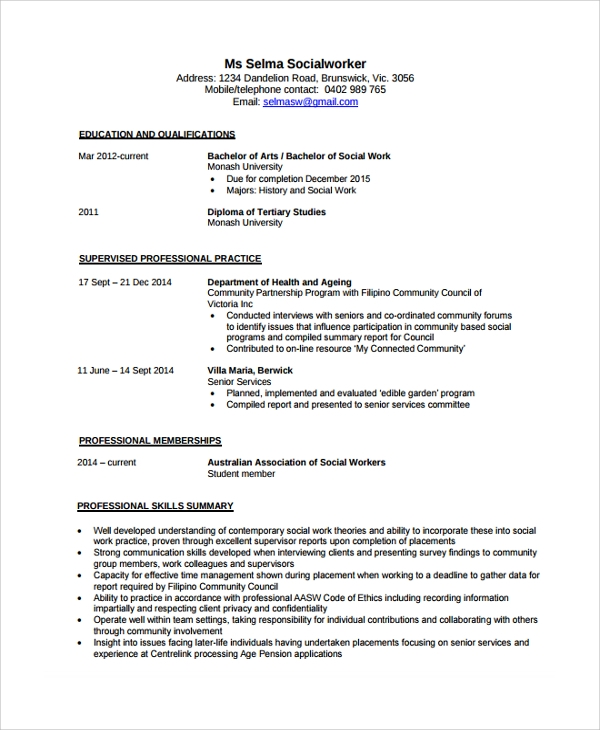 free sample social worker resume templates in pdf ms word medical customer service Resume Social Worker Resume Pdf