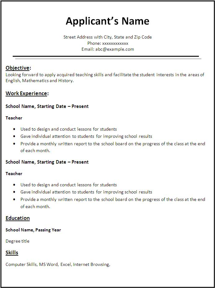 free teacher resume format word templates microsoft template writing newcastle retail for Resume Free Teacher Resume Templates Microsoft Word