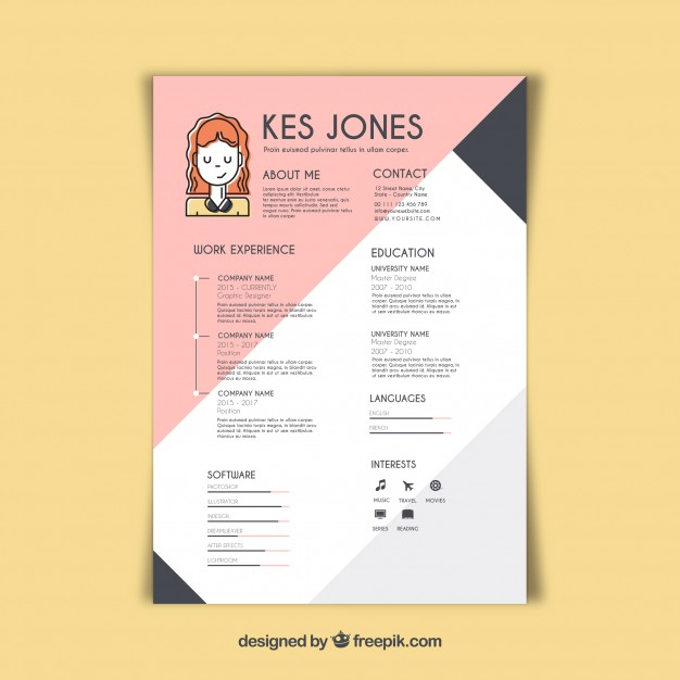free vector graphic designer resume template professional ecommerce lateral police Resume Professional Graphic Designer Resume