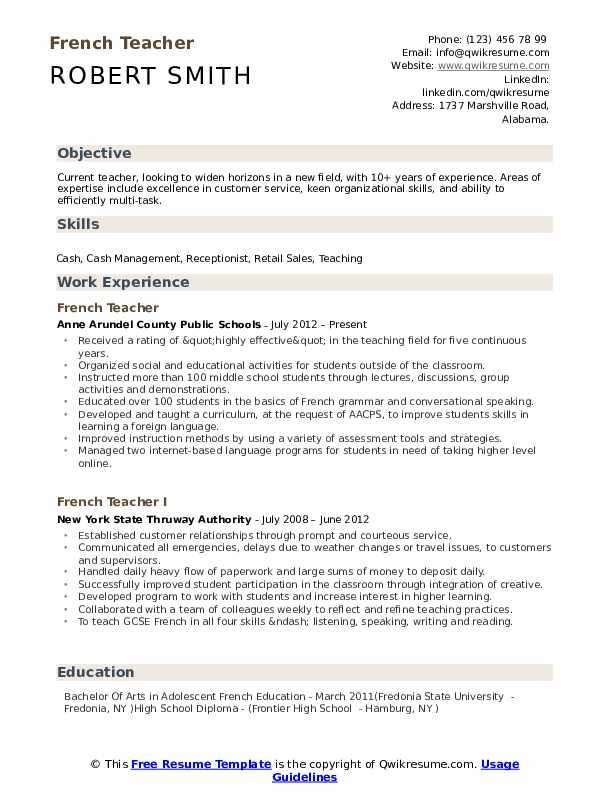 french teacher resume samples qwikresume indian school pdf free cover letter examples Resume Indian School Teacher Resume
