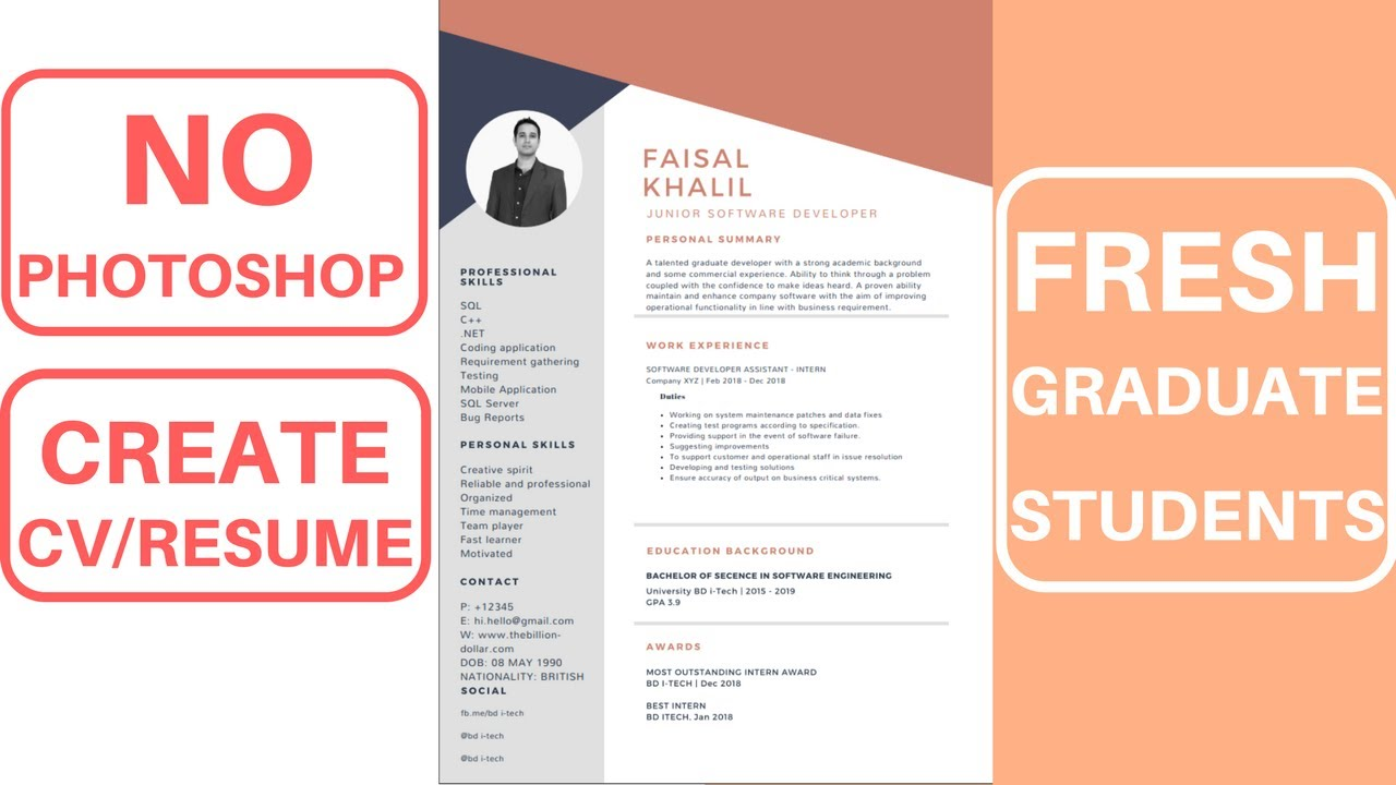 fresh graduate create cv resume to apply job for remote restaurant skills examples Resume Job Resume For Fresh Graduate