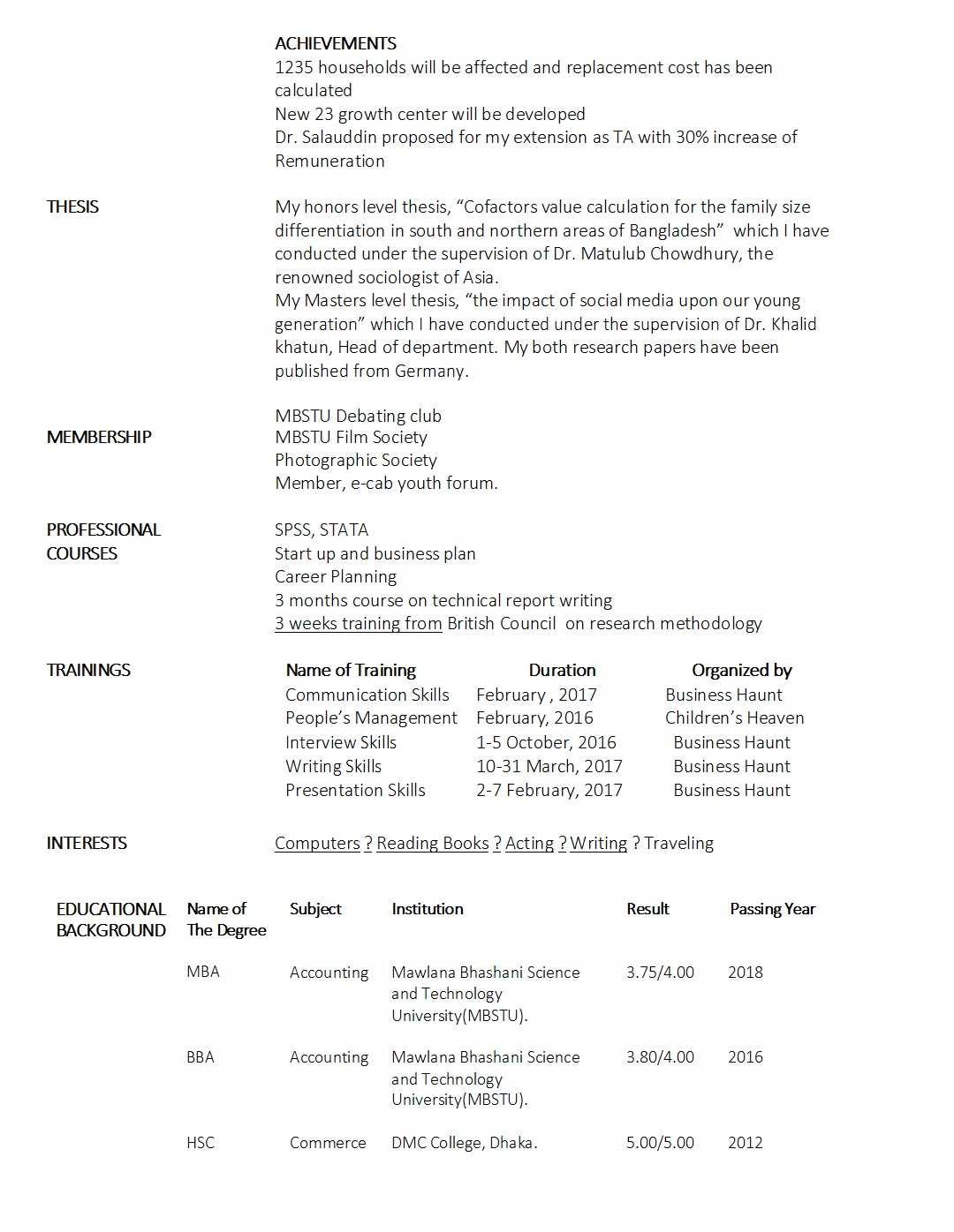 fresher cv sample business haunt resume examples for freshers objective words best middle Resume Resume Examples For Freshers