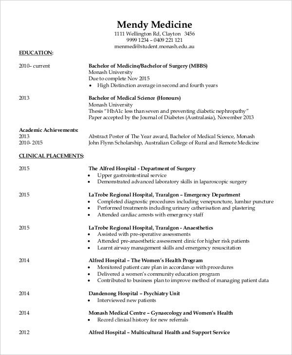 fresher doctor resume free word pdf documents premium templates bhms medical for hospital Resume Bhms Medical Resume For Hospital