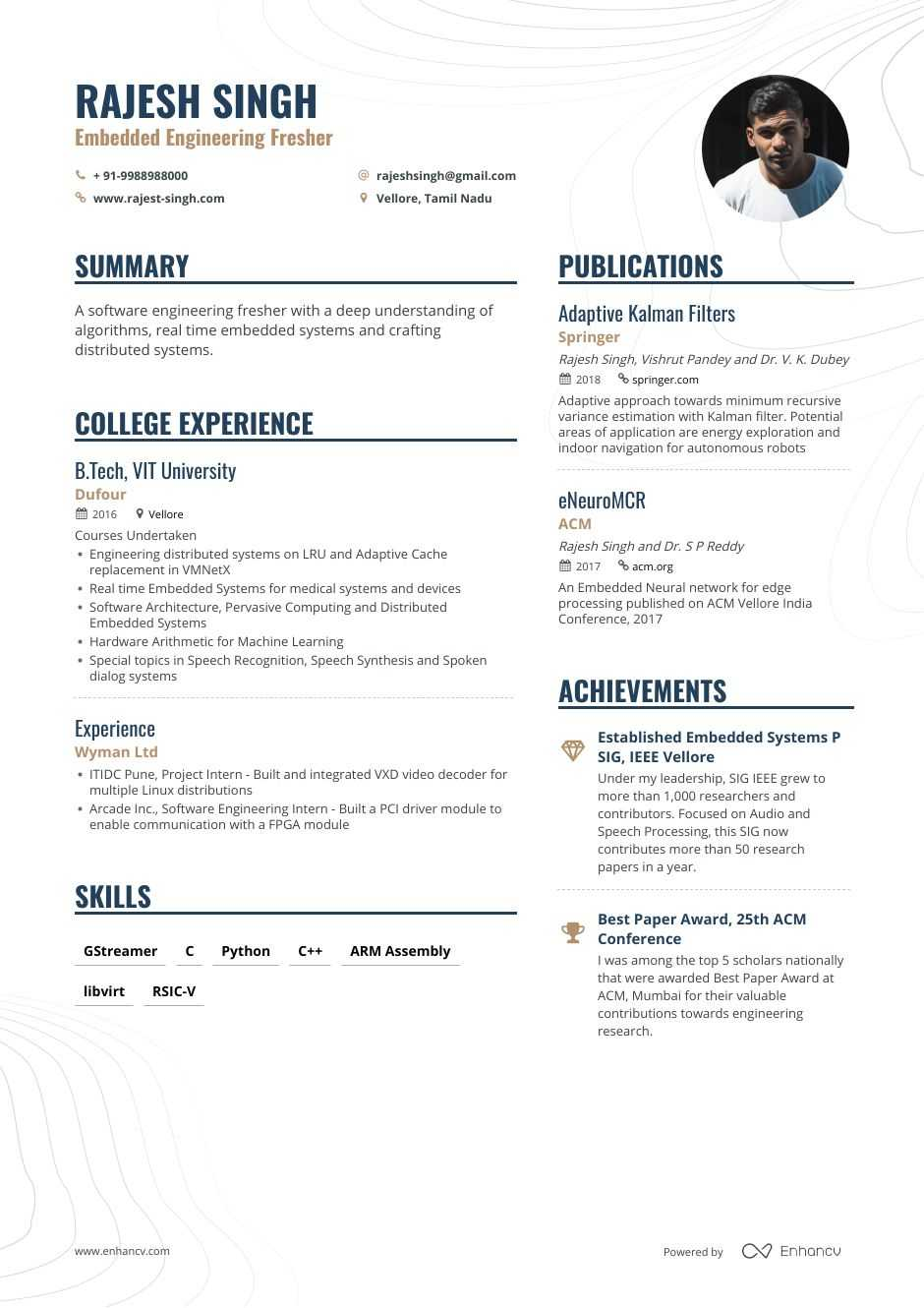 fresher intern resume step ultimate guide for enhancv examples freshers embedded Resume Resume Examples For Freshers