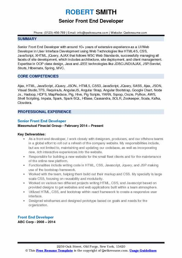 front end developer resume samples qwikresume engineer pdf kyc examples can you make on Resume Front End Engineer Resume