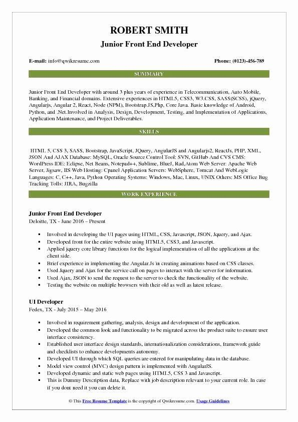 front end engineer resume free templates of developer lovely samples screening tool Resume Front End Engineer Resume