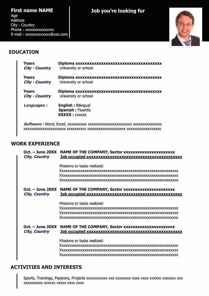 functional resume in word for free samples sample template organized black commercial Resume Sample Functional Resume Template