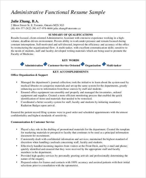 functional resume templates pdf free premium sample template administrative appointment Resume Sample Functional Resume Template
