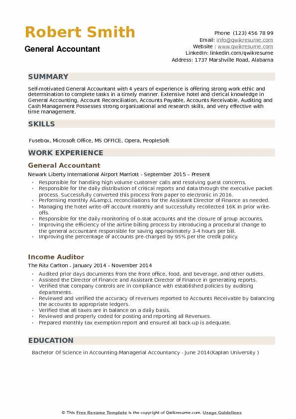 general accountant resume samples qwikresume summary for pdf executive of example staff Resume General Summary For Resume