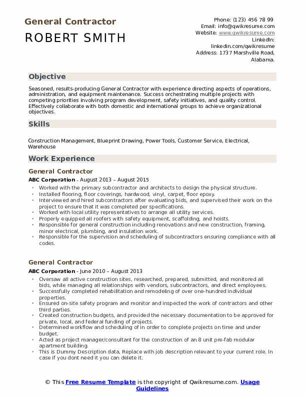 general contractor resume samples qwikresume assistant pdf basic for year old standard Resume Contractor Assistant Resume