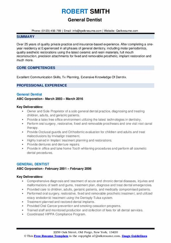 general dentist resume samples qwikresume format for pdf aml summary olx search cna Resume Resume Format For Dentist