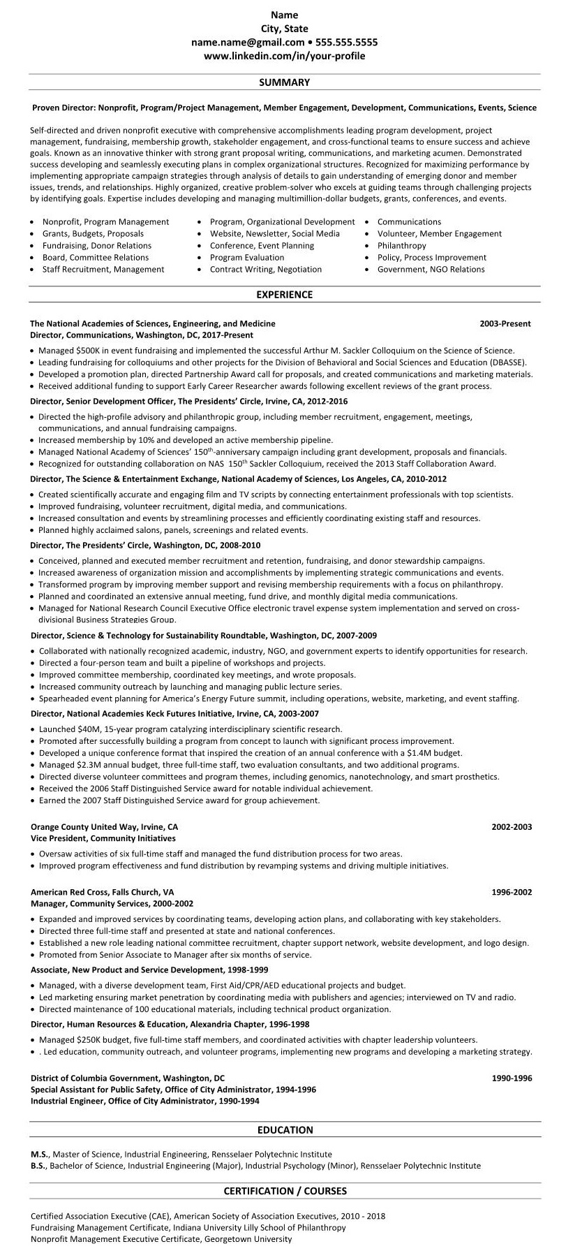general resume format for freshers experienced examples security clearance on number Resume Georgetown Resume Template