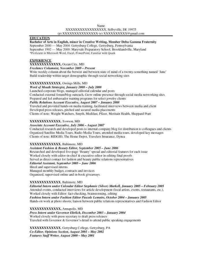 good resume examples for all careers prime entry level copywriter copy writer example Resume Entry Level Copywriter Resume