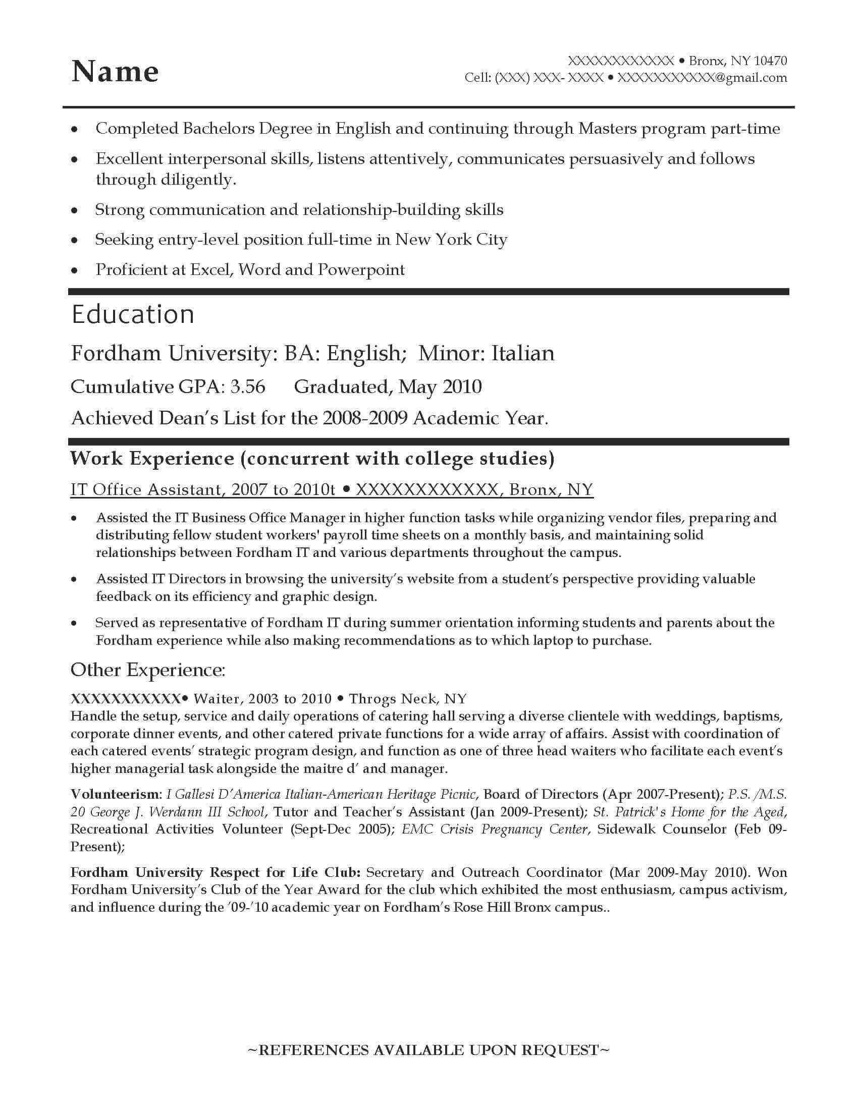 good resume examples for all careers prime entry level teacher english example before Resume Entry Level Teacher Resume
