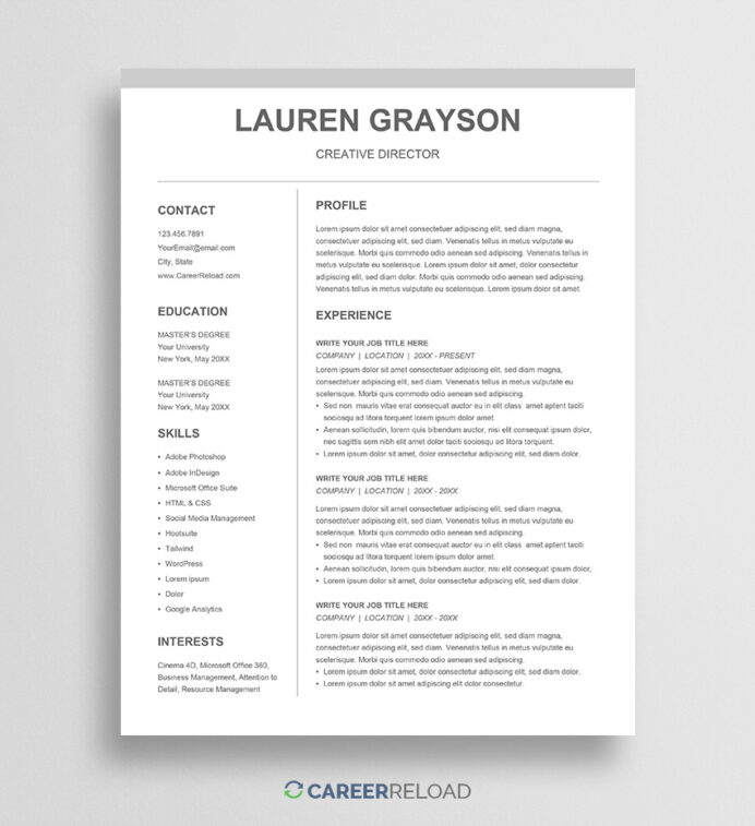 google docs resume templates for free template cv lauren equity business analyst word Resume Free Google Doc Resume Template Download