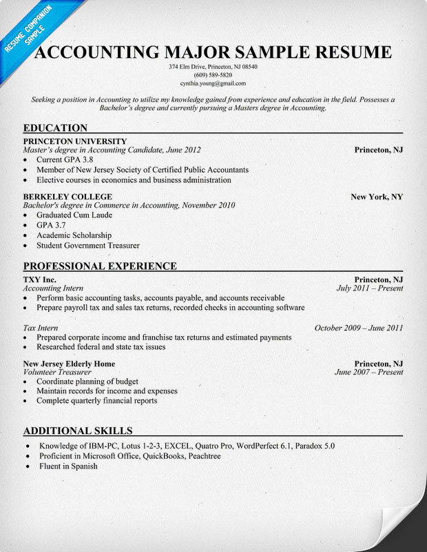 government accounting resume accountant sample special skills for acting air traffic Resume Government Accountant Resume