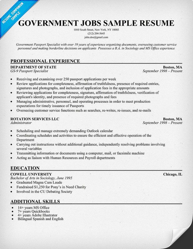 government jobs resume samples companion job template examples writing for positions Resume Resume Writing For Government Positions