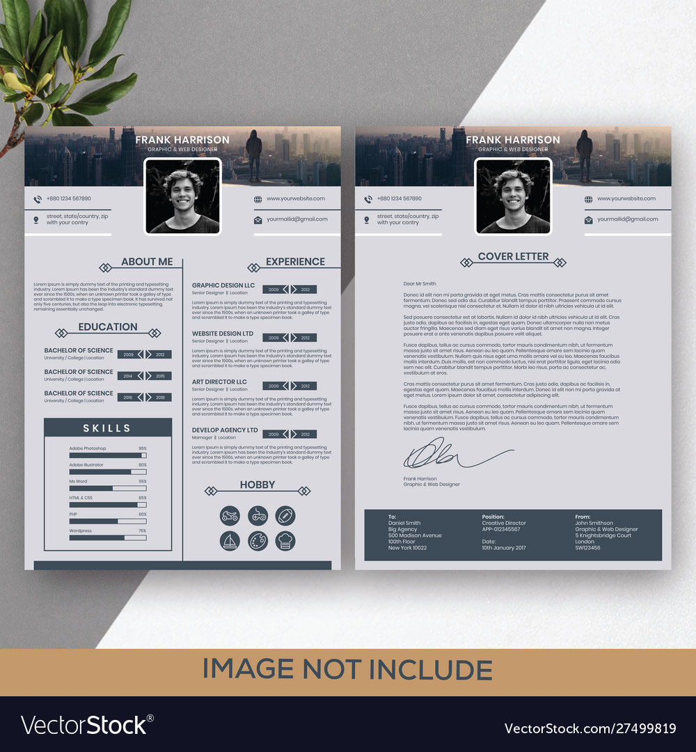 graphic and web designer two resume template vector image healthcare skills mds nurse Resume Two Page Resume Template