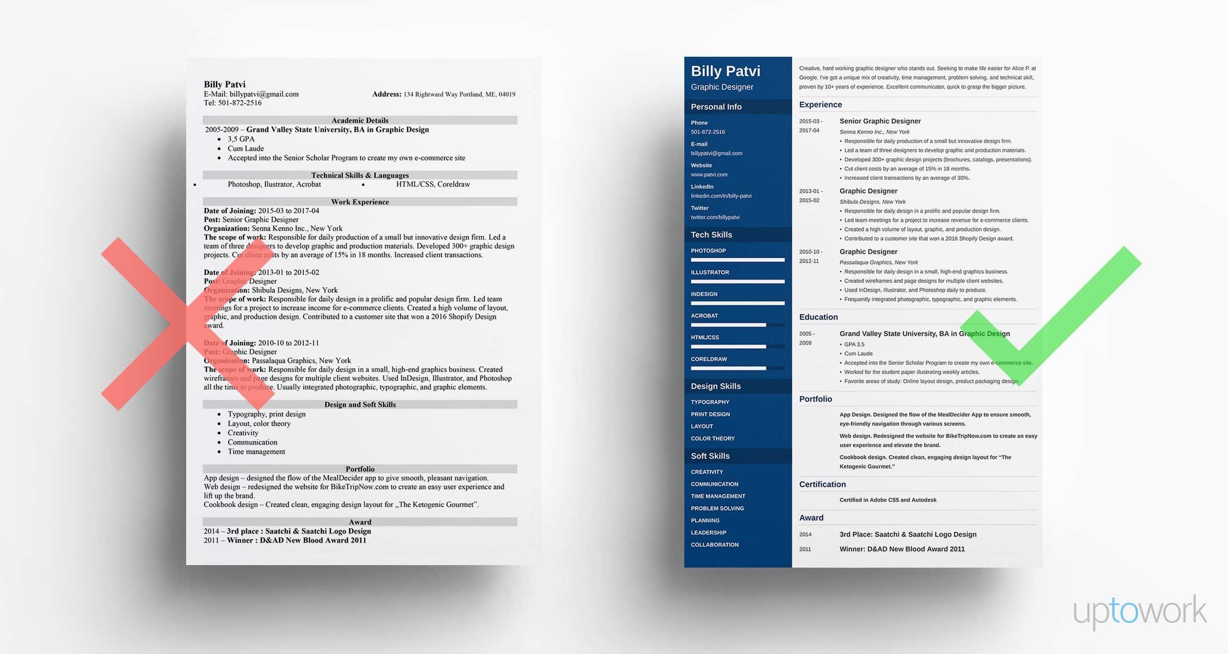 graphic designer resume examples and design tips for professional samples entry level Resume Professional Graphic Design Resume