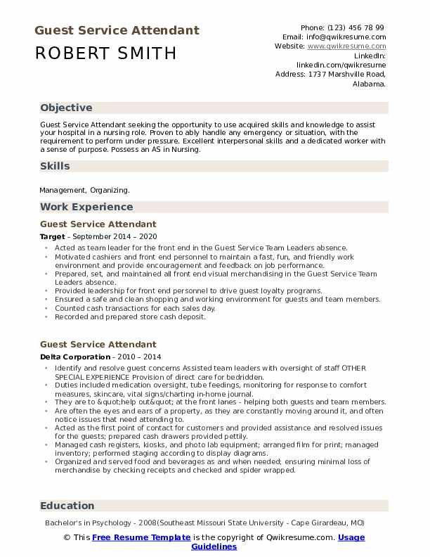 guest service attendant resume samples qwikresume pdf structure with promotions within Resume Service Attendant Resume