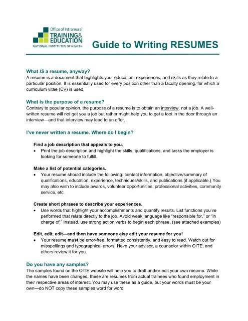 guide to writing resumes have someone make your resume occc free matching cover letter Resume Have Someone Make Your Resume