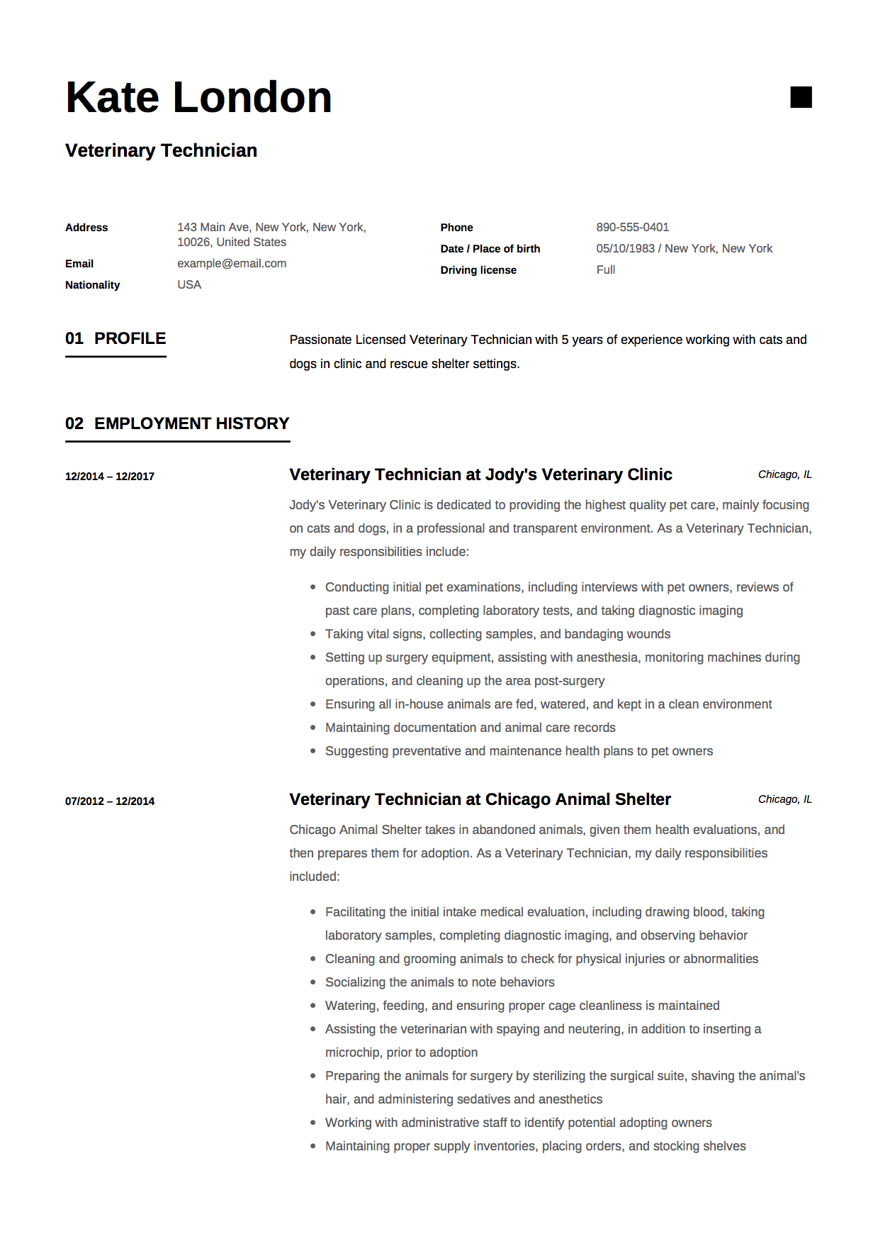 guide veterinary technician resume samples pdf vet tech example resident advisor Resume Vet Tech Resume Samples