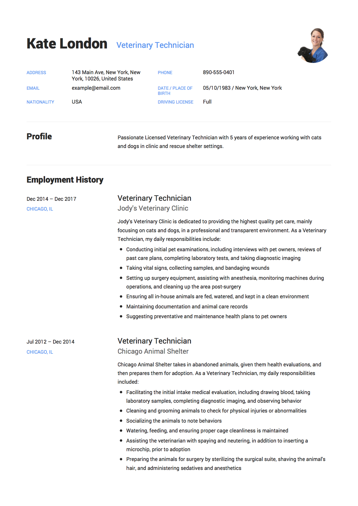 guide veterinary technician resume samples pdf vet tech sample best summary for Resume Vet Tech Resume Samples