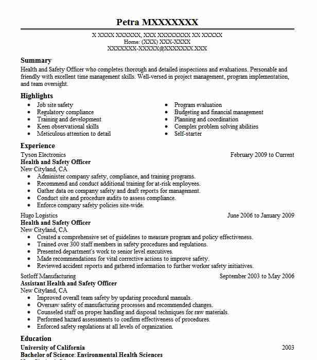 health and safety officer resume example healthcare support resumes job description Resume Safety Officer Job Description Resume