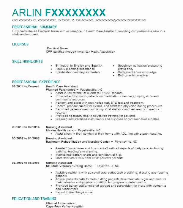 health care assistant resume example healthcare support resumes for worker subject matter Resume Resume For Healthcare Worker