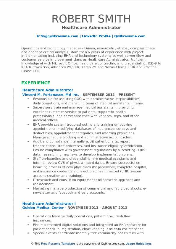 healthcare administrator resume samples qwikresume career objective for administration Resume Career Objective For Healthcare Administration Resume